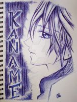 Kuran Kaname in pen by InitiallyBones