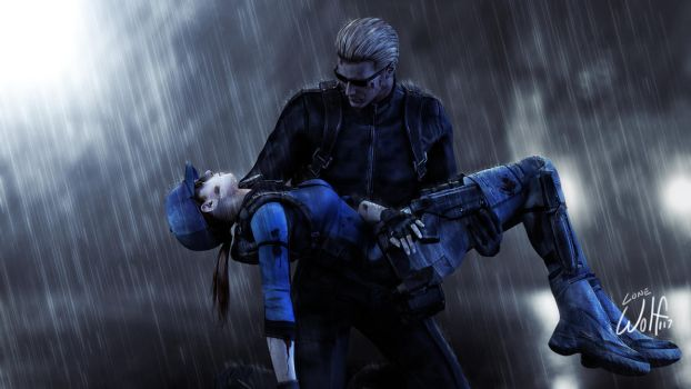 Wesker and Jill: Carried Away by LoneWolf117