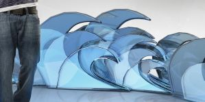 3d waves by d2neodesigner