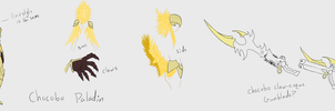 Chocobo Inspired Armor+Weapon by Firedemoncoderojo