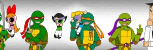 TMNT meet PPG by Porn1315