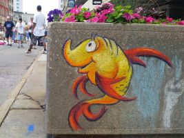 One Fish ChalkFest Buffalo by charfade
