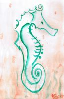 French Seahorse by Francoise-Evelyne