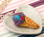 Cotton Candy Ice Cream Necklace by DeliciousTrickery