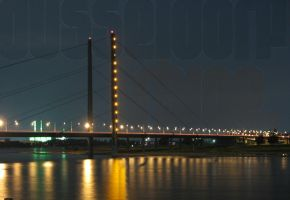 Dusseldorf: The Rhine by Night by lucifer-likes-sweets