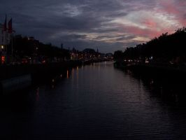 Liffey River, Night by Akamar