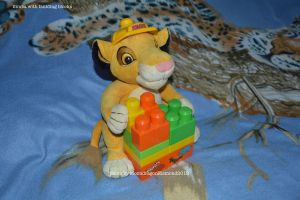 Simba with building blocks - TLK by MoondragonEismond