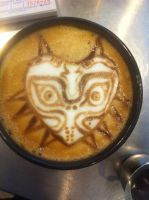 Majora's Mask Latte by Coffee-Katie