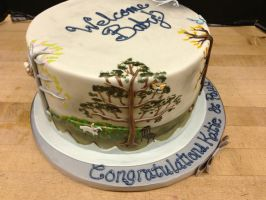 Enchanted Forest Baby Shower Cake- Summer by Spudnuts