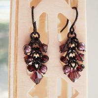 Black and Amethyst Earrings by lulabug