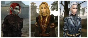Morrowind Characters by Isriana