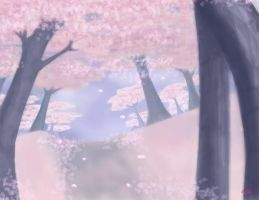 Cherry Tree Background by Ty-Chou