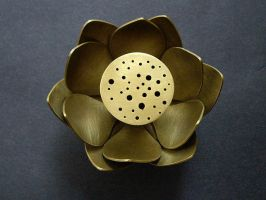 Lotus Incense Holder - Top by silver-zaira