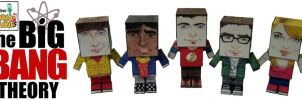 Big Bang Theory Paper Toys by Ditch-scrawls