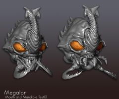 Megalon Mandible Test by Digiwip