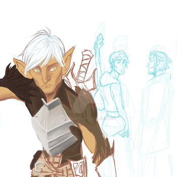 Dragon age 2 Jealousy - Work in progress by MadnessUnlimited