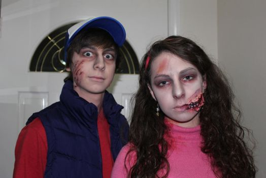 Mabel and Dipper ZOMBIES~!!! by Wildannalise