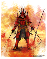 Demon samurai by Buashei