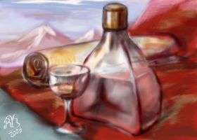 Still Life With Mountines by hrum