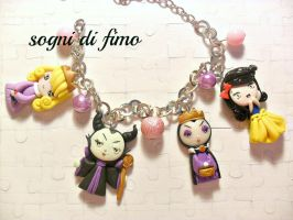 sleeping beauty,maleficent,snow white and Grimhild by SogniDiFimoCReazioni