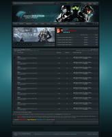 Gaming-Solution Wbb Webdesign by Renjir0