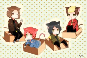 My Chemical Romance Chibi Neko by thafernandez