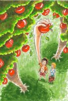 one piece,  pick apples by heivais