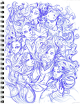 The Seven Sisters Les Sept Soeurs Sketch by Asher-Bee