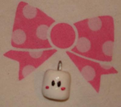 Marshmallow clay charm by Kittyportugal
