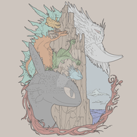 Ice and Fire, How to Train Your Dragon 2 T-Shirt by Epscillion