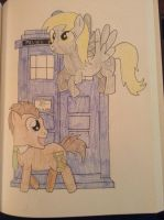 Doctor Whooves and Derpy by Nerdygirl311