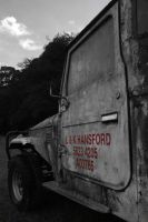 Old truck Red Writing by chefjack
