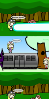 Spark vs. Train by Metroid-Life