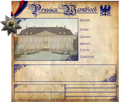 Prussian WB Purebred Sheet by SweetLittleVampire