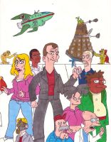 Futurama and Ninth Doctor by iamtherealbender