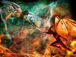 The war between good and evil by Xx-RA-xX