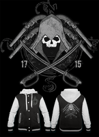 AC Black Flag Varsity Jacket by Enlightenup23