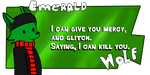 Emerald Wolf - Request Button by ShadowtailsDerol