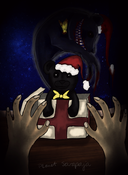 Becarefull with christmas presents by Planet-Sarapaja