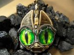 Wire Wrap Evil Demon Cat Pendant by Create-A-Pendant