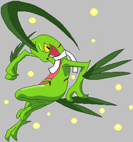 Kestrel the Grovyle! new DA ID by KestrelStarYT