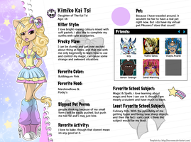 Monster High OC Kimiko Kai Tsi Bio by chunk07x
