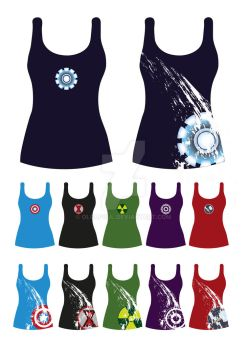T-shirts Avengers by OlcaPoul