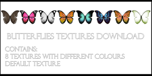 Butterflies Textures Download by FukkatsumiMori