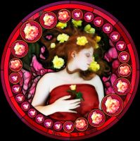 Sleeping Beauty Stained Glass by secretgal1234