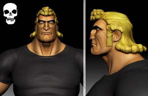 Brock Samson 3D - Venture Bros by FoxHound1984
