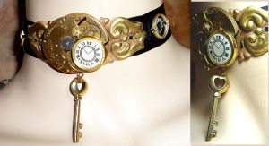 Hatter's Watch Choker by sadwonderland