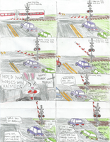 Trying to do the Right Thing at a Rail-Crossing by WillM3luvTrains