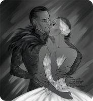 Ballet-AU. Sorcerer and Swan sketch by Kota-Stoker