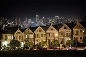 Old Painted Ladies on a non foggy night by LeMex